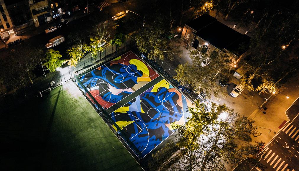 Il lavoro di Kaws a Ney York, foto courtesy Nike