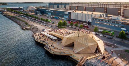 Sauna, la struttura di Avanto Architects a Helsinki, foto di Kuvio
