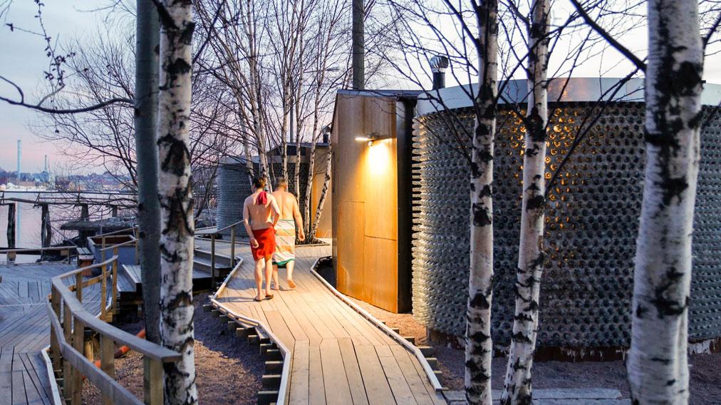 Sauna di Göteborg, foto di Raumlabor