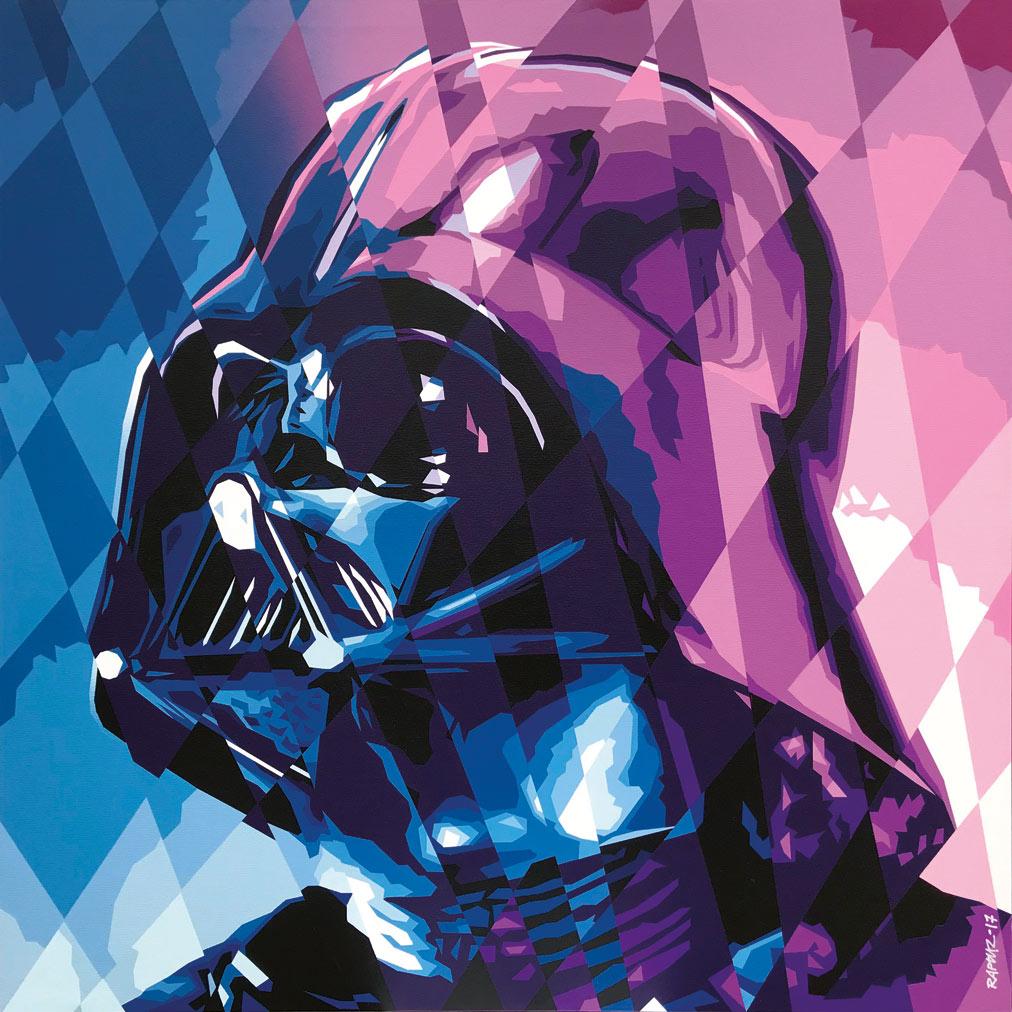 Raptuz - Lord Pop Vader (2017, spray su tela)