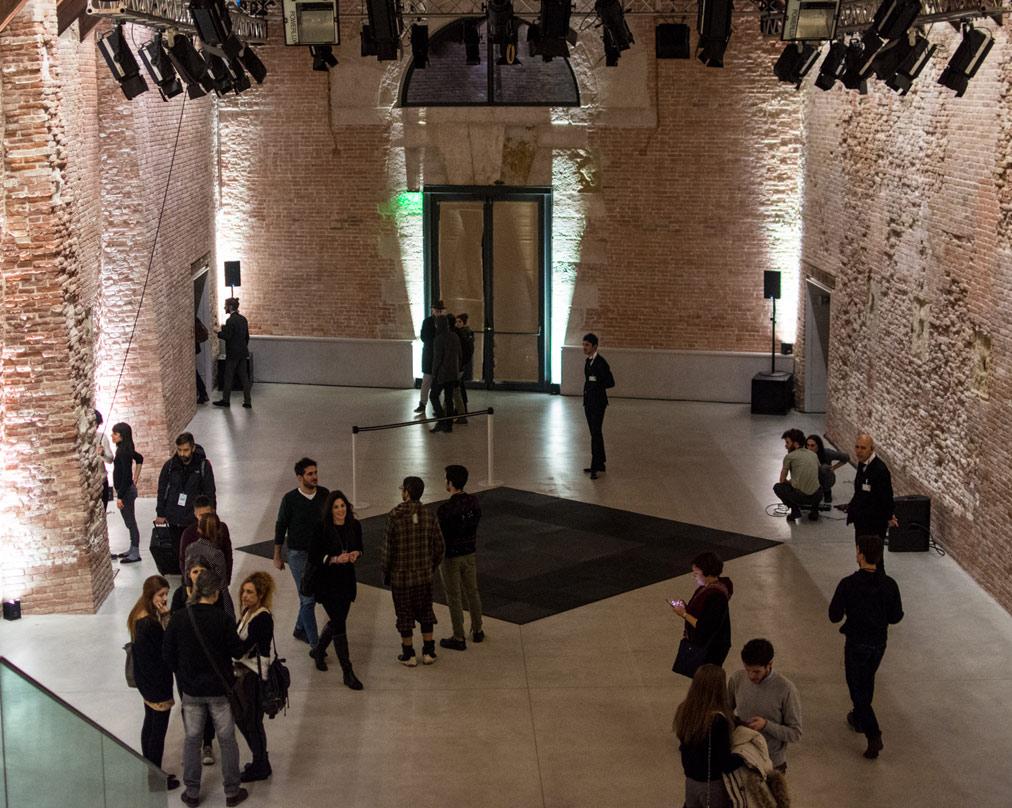 Lo spazio destinato alle performance di Punta della Dogana - foto di Alessandra Lanza