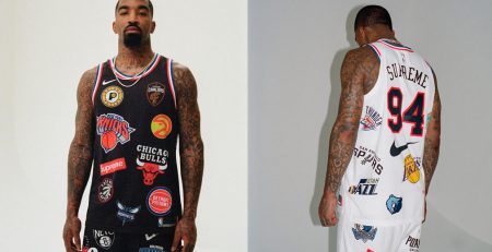 Supreme x NIke x NBA - JR Smith, foto di Ari Marcopoulos