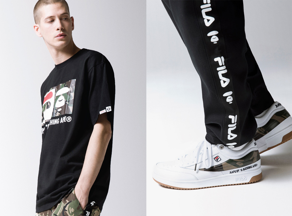 aape a bathing ape fila
