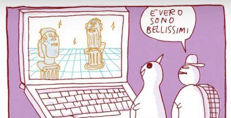 Fumetti nei musei, Vignetta da 'Jones e Ippocrate' del Dr Pira