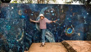 Carlo Bevilacqua - ritratto di Audrey Wallace Taylor, pittrice, ad Auroville