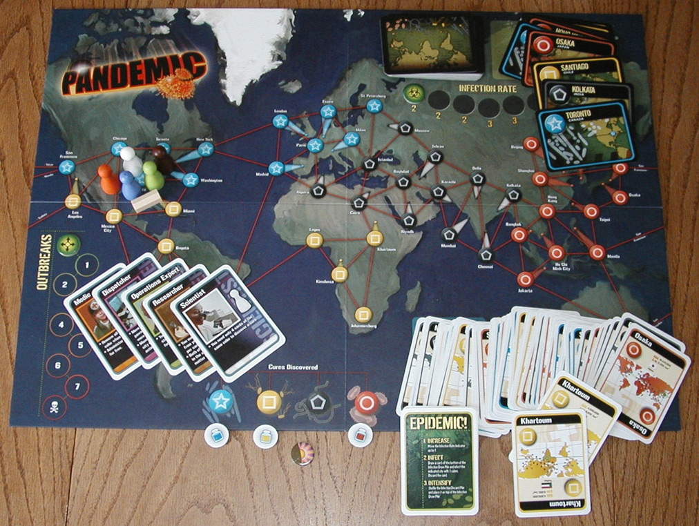 giochi da tavolo Pandemic - foto courtesy Wikipedia