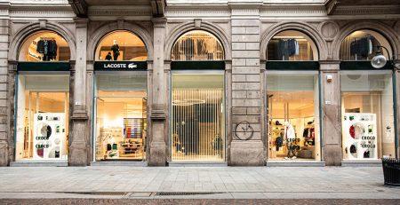 nuovo negozio di Lacoste a Milano