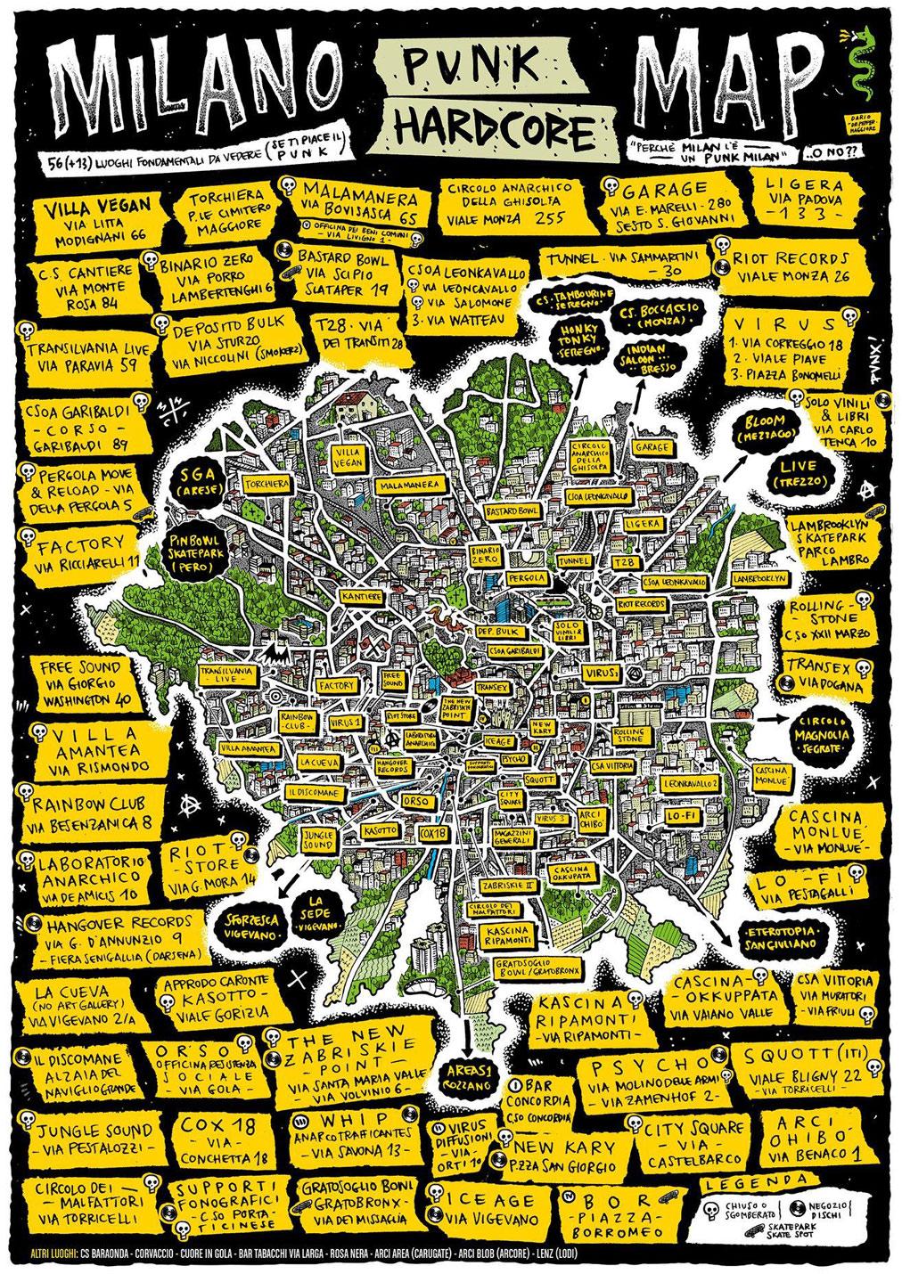 Quarantena, Milano Punk Hardcore Map