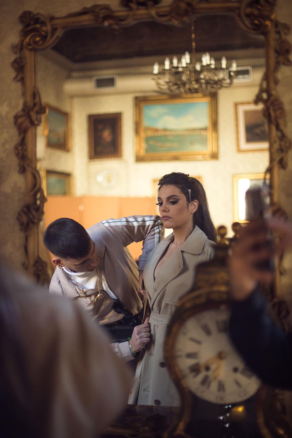 Simone Furlan con Margherita Vicario