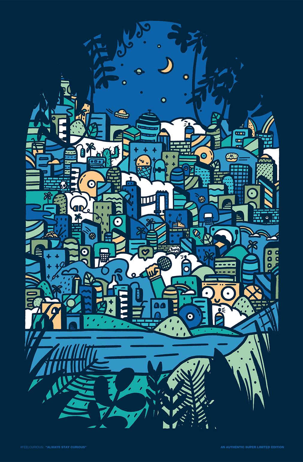 Little Lewis Print x Sesh Evo Curious Blue